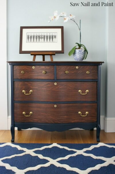 Heirloom chest in navy blue.
