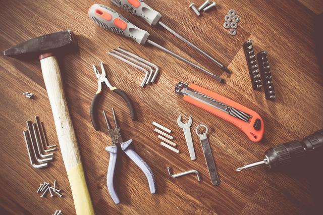Tools necessary for furniture repair.